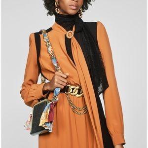 ZARA Limited Edition 2 Tone TieCollar Ruffle Dress